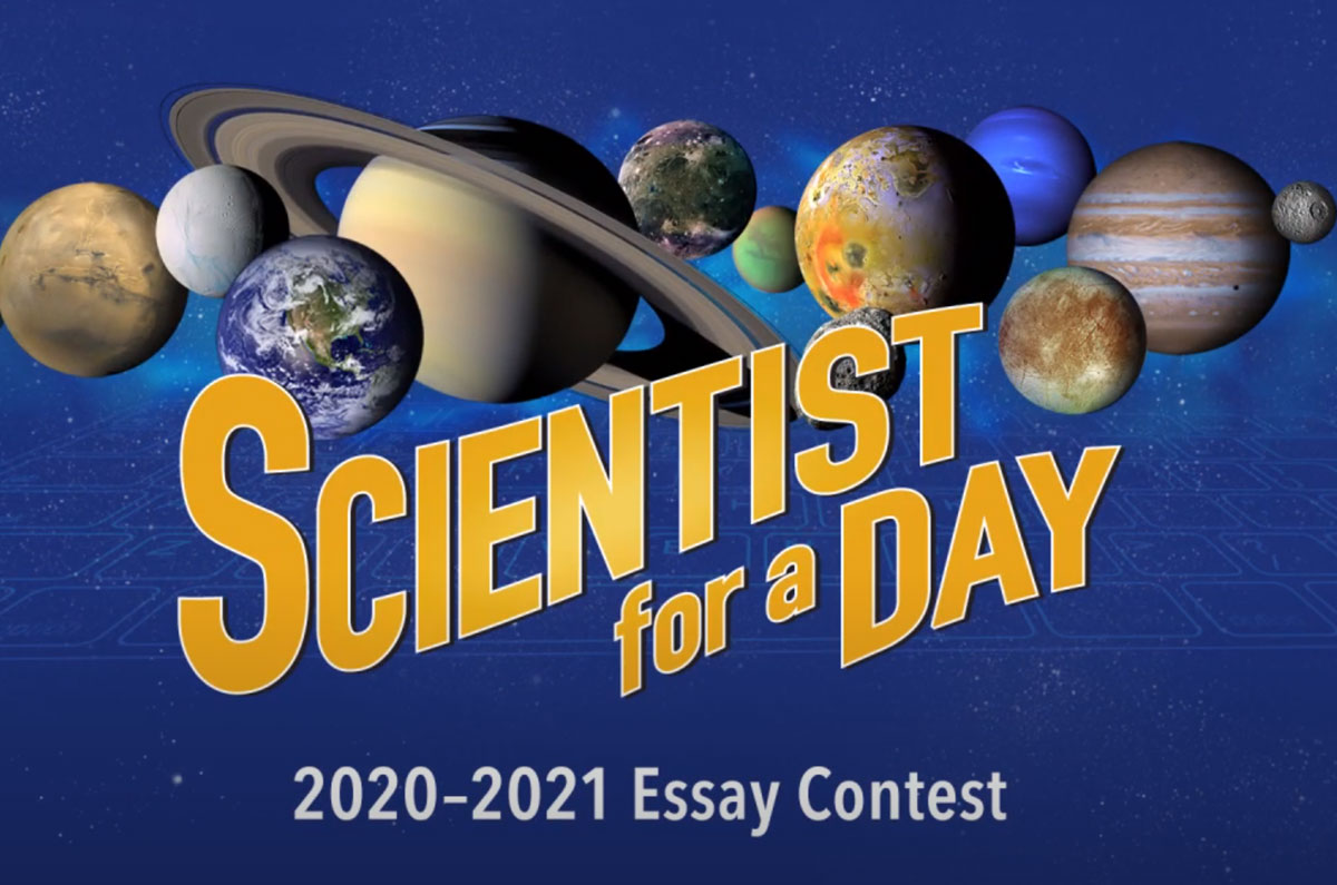 The Scientist for a Day NASA essay contest