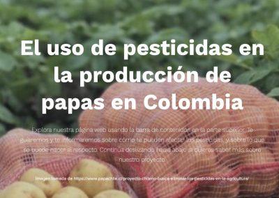 Pesticidas y plaguicidas en el cultivo de la papa